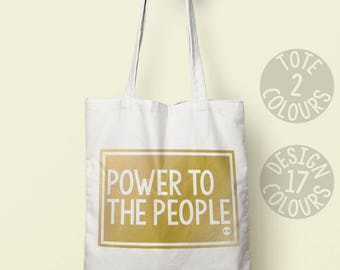 Power to the People, tote, personalized gift, protest, gift, activist, campaign, cause, rights, human rights, equal rights, politics