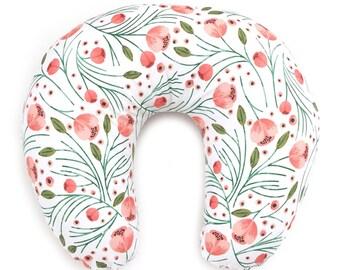 Nursing Pillow Cover Winter Floral. Nursing Pillow. Nursing Pillow Cover. Minky Nursing Pillow Cover. Floral Nursing Pillow Cover.