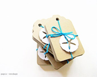 100 Large Kraft Tags, Kraft Paper Tags Scalloped, Wedding Escort or Wish Tags, Place Cards, Natural & Eco Friendly