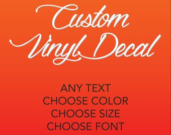 Custom Vinyl Etsy - Custom vinyl decals near me