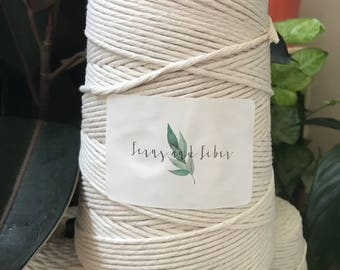 4mm Cotton Fringing Macrame Cord