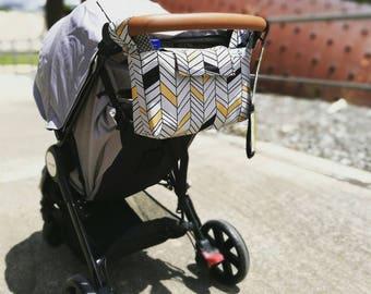 Deluxe pram caddy / pram organiser / stroller bag