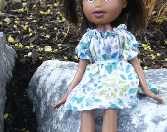 "Peasant Dress and Top Sewing Pattern for 10 1/2""  fashion dolls: will fit Bratz, Skipper, Barbie's sister etc."