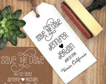 Save the Date Stamp, DIY Save the Date, DYI Wedding, Wedding Stamp, Swirly Font Wedding Stamp, Custom Stamp, Custom Save The Date Stamp
