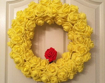 Beauty and the Beast Inspired Wreath