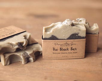 Black Bar Soap - Natural Soap - Activated Charcoal Soap - Essential Oil Soap - Palm Free Soap - Face Soap - Acne Soap - Detox Soap -