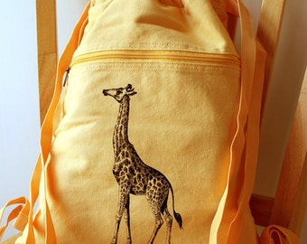 Giraffe Backpack Canvas Bag School Bag
