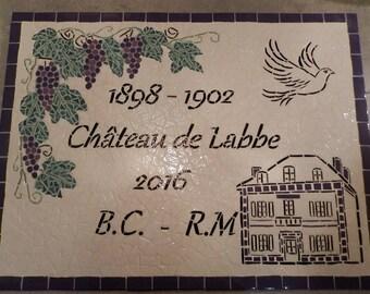 Custom personalized mosaic sign