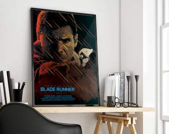 Blade Runner 1982 | Harrison Ford | Ridley Scott | Alternative Film Poster Print Design | A0 A1 A2 A3 A4