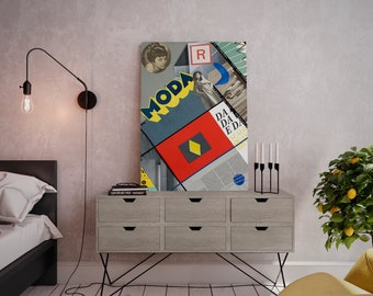 Wall art collage canvas print image - Aesthetically