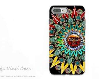 Tribal Aztec Sun - Colorful iPhone 7 PLUS - 8 PLUS Tough Case - Dual Layer Protection - Sun Shaman