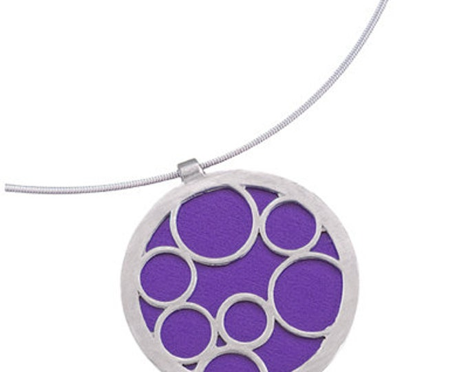 Large Round Purple Bubble Pendant