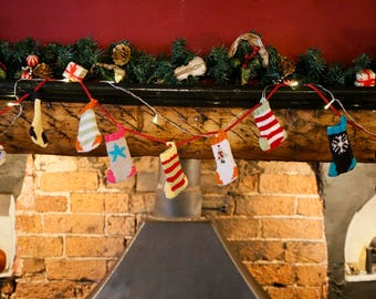 Christmas Stockings - Advent Bunting Knitting Kit