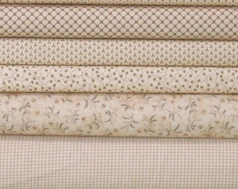 Six Lights Fabric Bundle from Helping Hands and Katie's Cupboard Collection by Kim Diehl, 100% Cotton Quilt Fabric