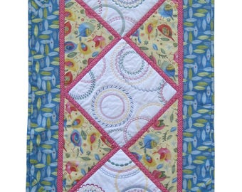 On Point Circle Stitching Table Runner PDF Quilting Pattern (SMS-108PDF)