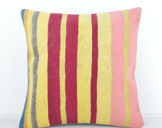 Kilim pillow, Kilim Pillow Cover, Turkish Pillow, Kilim Cushions, Moroccan Pillow,  Bohemian Pillow, Turkish Kilim, KP61 (tp437)