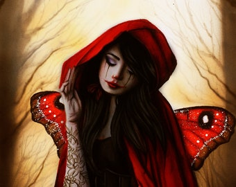 Red riding hood ( Original and Print )
