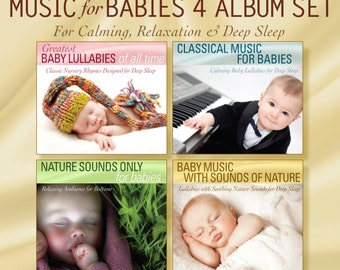 Baby Lullabies 4 CD Set (Music for Babies - Classical Music for Babies - Nature Sounds Only - Baby Music with Nature Sounds)