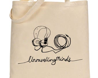 Unravelling Minds Headphones Tote
