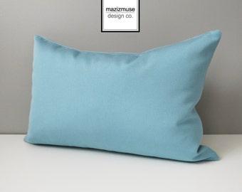 Mineral Blue Outdoor Pillow Cover, Modern Pillow Cover, Decorative Pillow Case, Throw Pillow Cover, Light Blue Sunbrella Cushion Cover
