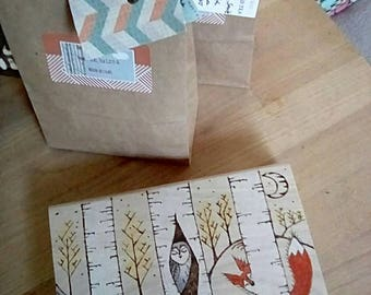 Tea box, mixed herbal teas in cute wooden box. Hand blended teabags and handcrafted design.
