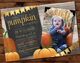 Our little pumpkin birthday invitation first birthday little pumpkin party invitation little pumpkin first birthday invitations fall first birthday invitation filmwisefo Image collections