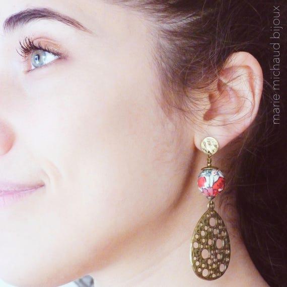 Statement earrings,Boho earrings,Hippie chic earrings,Original earrings,Long earrings,Statement jewelry,Original jewelry,Boho jewelry,Modern
