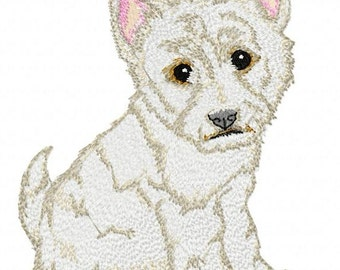 WEST HIGHLAND TERRIER - Machine Embroidery Design - dog pet