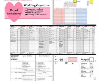 wedding budget excel spreadsheet