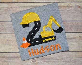 Construction birthday shirt - digger birthday shirt - excavator birthday shirt - construction party - construction birthday - boy birthday