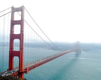 Golden Gate Bridge Photography sky weather fog misty romantic historic