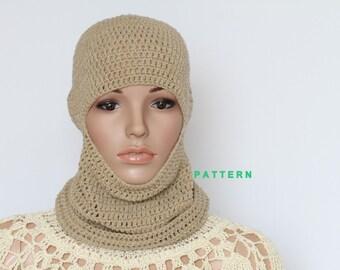 Crochet Ski Mask PDF Pattern, Hand crochets Cap Pattern, Instant Downloadable crochet Patterns