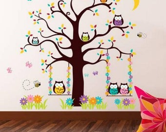Owl Tree Wall Decor