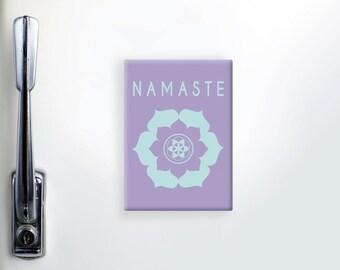Refrigerator Magnet, Fridge Magnet, Yoga Magnets, Namaste Magnet, Inspirational Magnet, Kitchen Magnet, Yoga Lover Gift, Cute Fridge Magnet