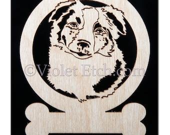 Australian Shepherd Ornament-Australian Shepherd Gift-Free Personalization