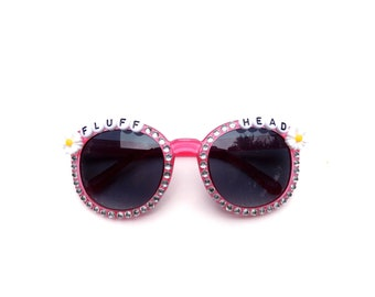 """Children's """"Fluffhead"""" decorated sunglasses by Baba Cool 