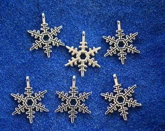 10 Snowflake Charms