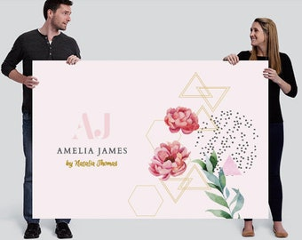 Amelia James PERSONALIZED Banner (LARGE - 4' x 6')   FLORAL