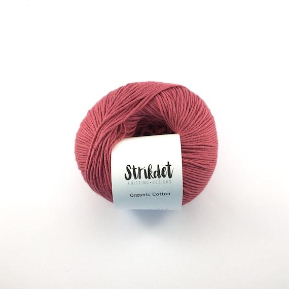 STRIKDET Organic Cotton Marsala / Økologisk Bomuld - Marsala