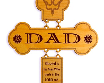 Fathers Day Gift for Christian Dad - Dad Gifts Personalized - Dad Father's Day Gift - Wall Cross- Dad Birthday Gift