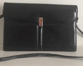 Jay Herbert Black Leather Shoulder Bag