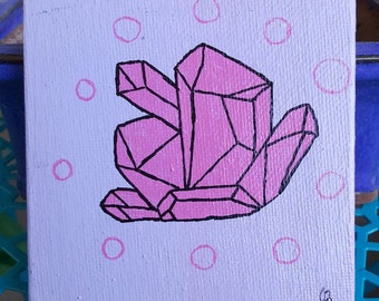 Pink Bubbles Crystal Cluster