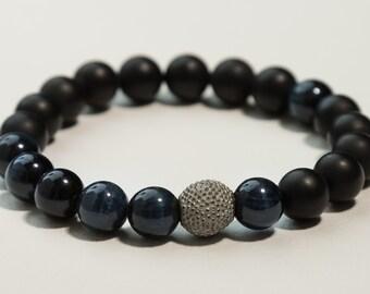 Blue Tiger Eye Stretch Bracelet