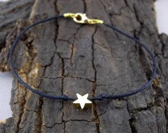 Bracelet Star Gold Black