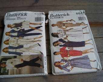 Butterick Today's Wardrobe by J.G. Hook and Butterick Classics- 6589 Pattern Size (12-14-16) and 6641 Pattern Size (12-14-16) 1993