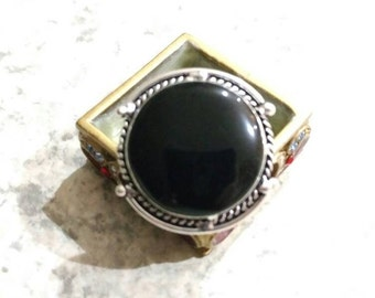 Black Onyx Ring Size 7