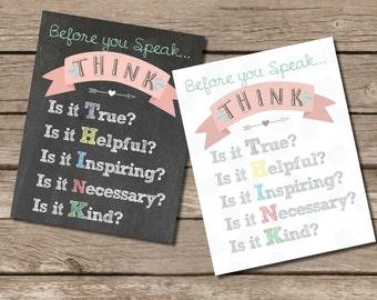 Before you speak… THINK Print