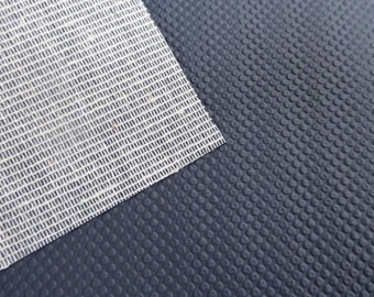 Non Slip Fabric, Grip Fabric, Non Skid, Anti Slip Fabric, Slipper Soles, Booties Sole, Gripper Fabric, Shoe Sole, PVC Free, Grey Rubber