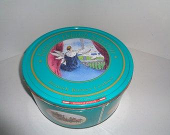 """Vintage Danish Butter Cookies Tin Hans Christian Andersen Stories 10"""""""