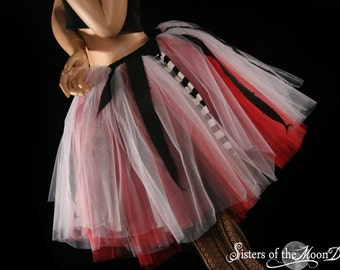 Arrr Matey Pirate Chick tutu skirt Adult costume halloween run cosplay carnival --You Choose Size -- Sisters of the Moon